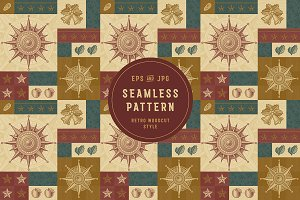 Seamless Retro Christmas Pattern