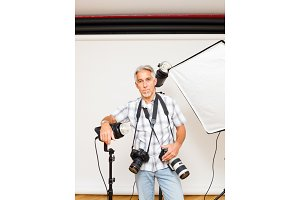 Professional Photographer In His Studio