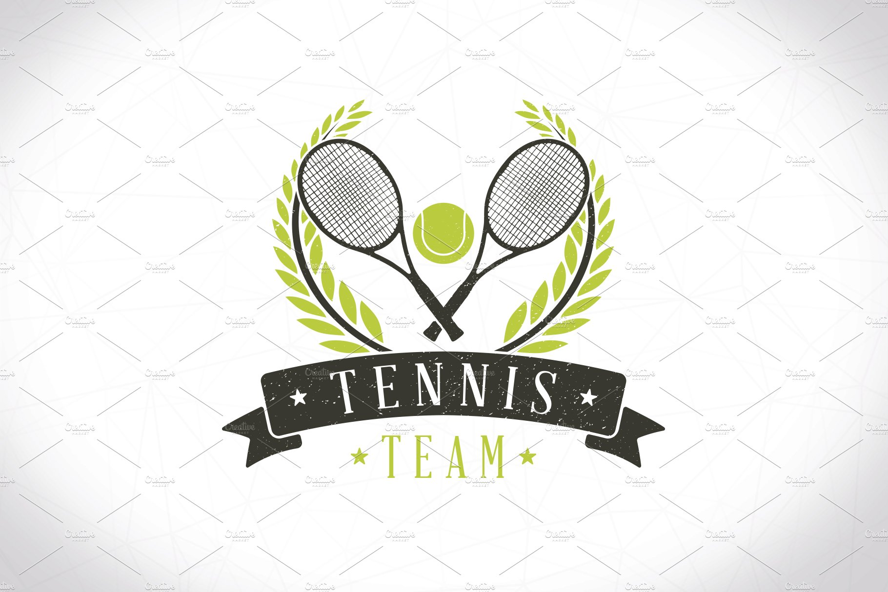 Tennis Team Logo Template ~ Logo Templates ~ Creative Market