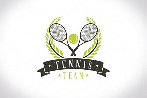Tennis Team Logo Template