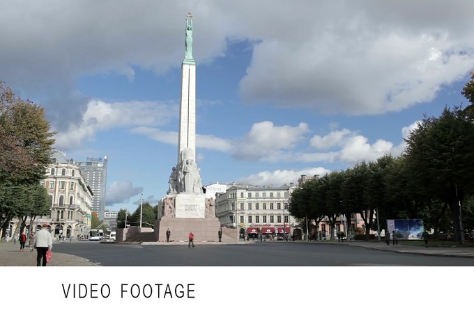 Time lapse. The Freedom Monument - Architecture