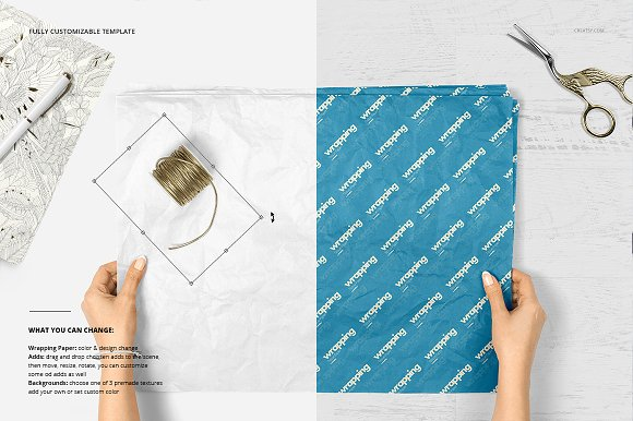 Wrapping Tissue Paper Mockup Set in Product Mockups - product preview 5
