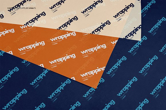 Wrapping Tissue Paper Mockup Set in Product Mockups - product preview 6