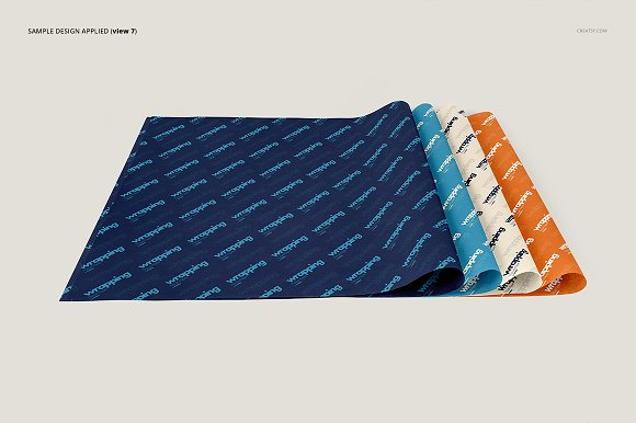 Wrapping Tissue Paper Mockup Set in Product Mockups - product preview 12