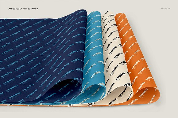 Wrapping Tissue Paper Mockup Set in Product Mockups - product preview 14