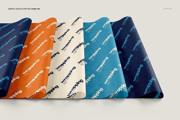 Wrapping Tissue Paper Mockup Set in Product Mockups - product preview 19