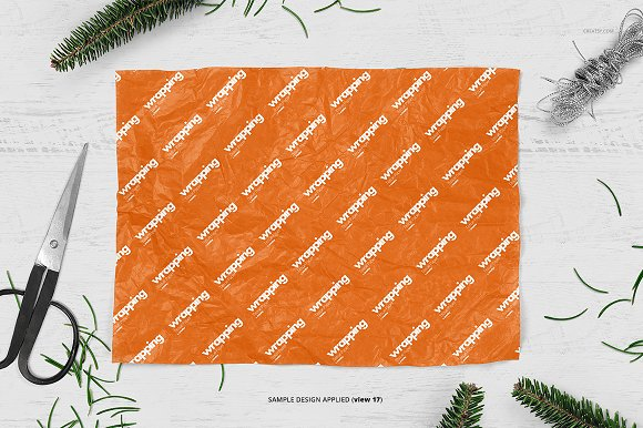 Wrapping Tissue Paper Mockup Set in Product Mockups - product preview 22