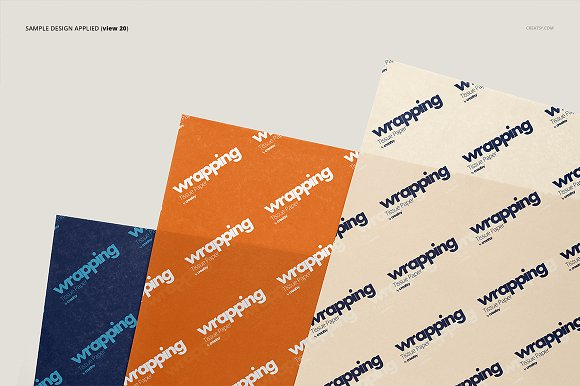 Wrapping Tissue Paper Mockup Set in Product Mockups - product preview 25