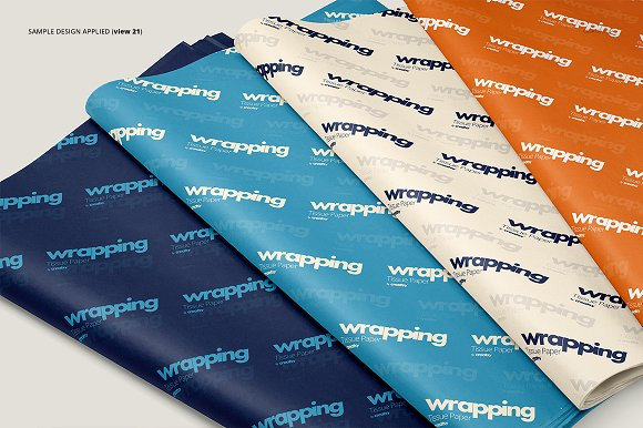 Wrapping Tissue Paper Mockup Set in Product Mockups - product preview 26