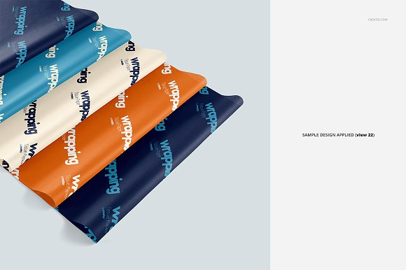 Wrapping Tissue Paper Mockup Set in Product Mockups - product preview 27