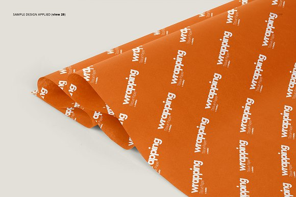 Wrapping Tissue Paper Mockup Set in Product Mockups - product preview 33