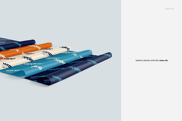 Wrapping Tissue Paper Mockup Set in Product Mockups - product preview 35
