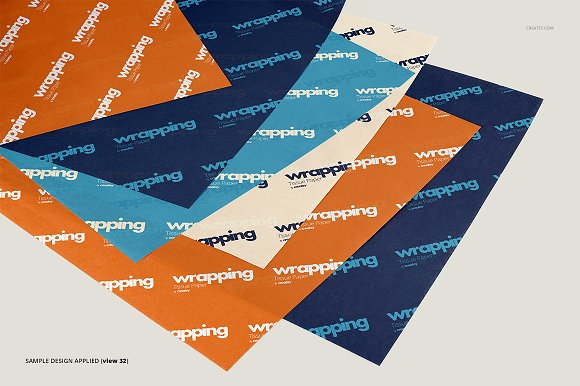 Wrapping Tissue Paper Mockup Set in Product Mockups - product preview 37