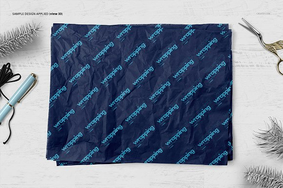 Wrapping Tissue Paper Mockup Set in Product Mockups - product preview 38