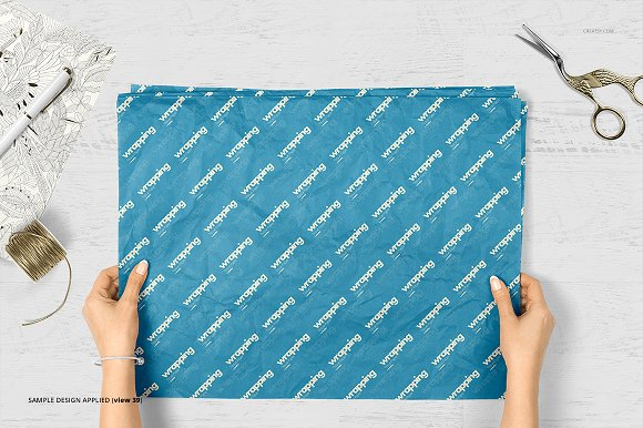 Wrapping Tissue Paper Mockup Set in Product Mockups - product preview 44