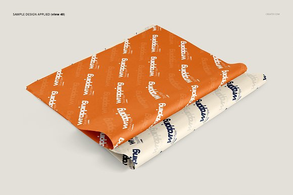Wrapping Tissue Paper Mockup Set in Product Mockups - product preview 45