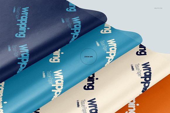 Wrapping Tissue Paper Mockup Set in Product Mockups - product preview 48