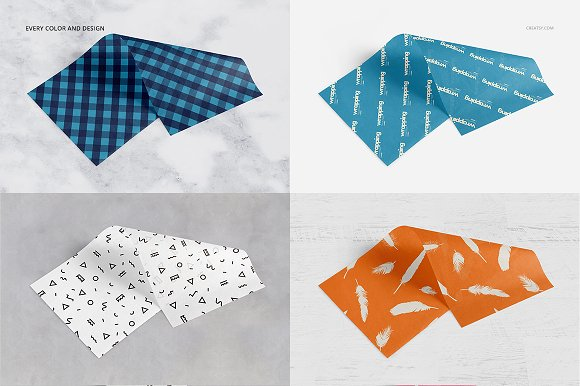 Wrapping Tissue Paper Mockup Set in Product Mockups - product preview 49