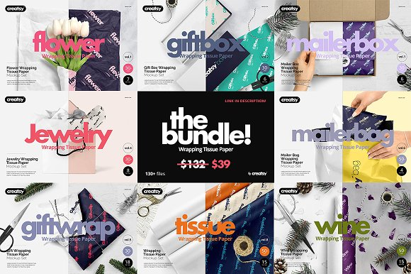 Wrapping Tissue Paper Mockup Set in Product Mockups - product preview 52
