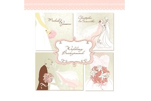 Wedding clip art for wedding invites