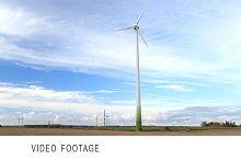 Wind turbine in the field.