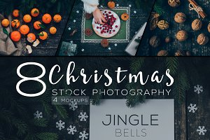 Dark christmas stock photo & mockups