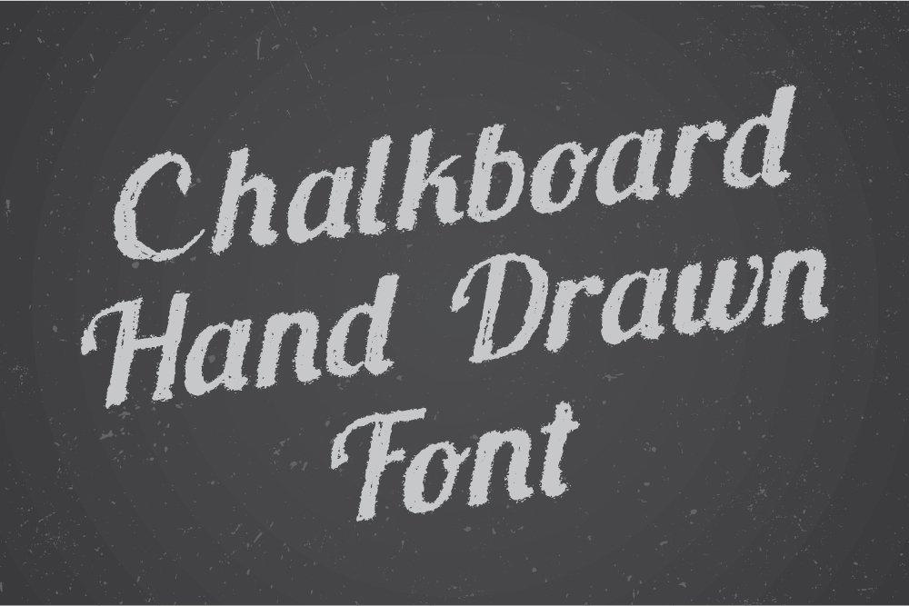 Chalkboard Hand Drawn Font Script Fonts Creative Market
