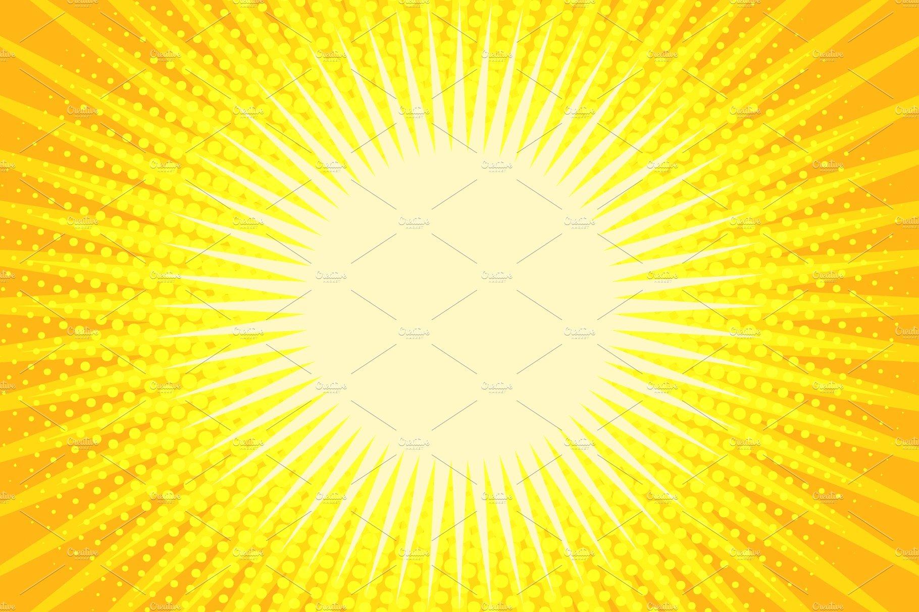 yellow rays pop art background illustrations creative