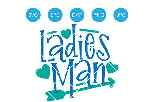 Ladies Man SVG DXF EPS Cutting File