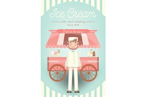 Ice Cream Card EPS and JPEG