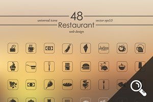 48 RESTAURANT icons