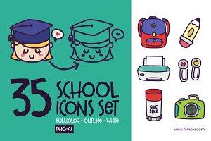 35 school icons