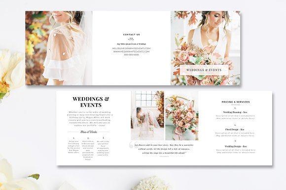 florist tri fold brochure psd brochure templates creative market