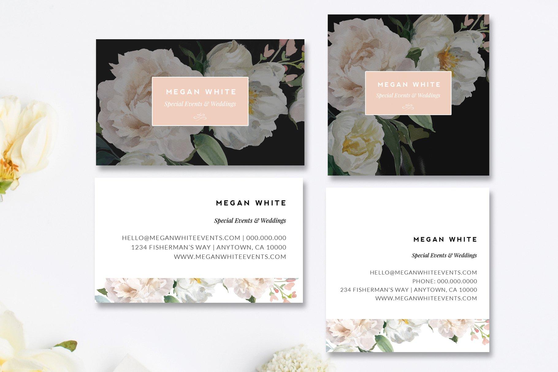 Florist Business Card Templates ~ Business Card Templates ~ Creative ...