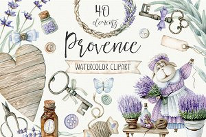 Watercolor provence set