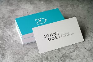 90x50 Business Card Mockup v3