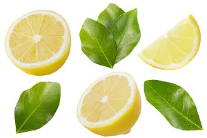 Collection of lemon fruits