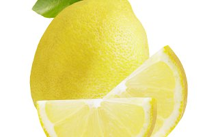 One whole lemon and two slices