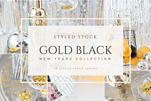 New Years Flatlay Styled Stock photo