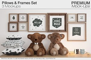 Pillows Frames & Mugs Set