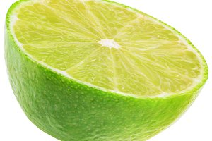 isolated lime on white background