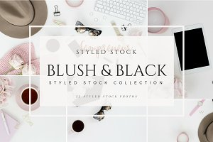 Blush Black Styled Stock Photography