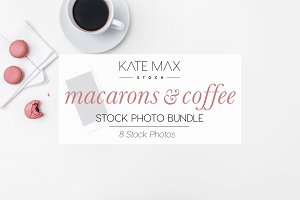 Pink Macarons Stock Photo Bundle