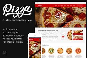 Pizza Restaurant Joomla Landing Page
