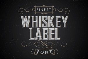 Vintage label whiskey style font