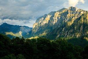 Kansifluh Mountain In The Austrian Alps