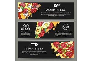 Pizza flyers set