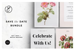 Botanical Save the Date Bundle