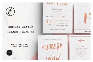 Minimal Marble Wedding Collection