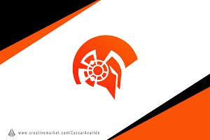 Spartan Tech Gear Logo Template